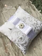Svadobný vankúšik Silver - white