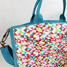 Kabelky - Kabelka mozaika - 7967364_