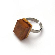 Prstene - Jabloňový dvojfarebný kvádrik - 7965023_