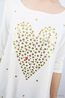 Tričká - Dámske tričko biele BAMBUS 01 BODKOVANÁ - 7964156_