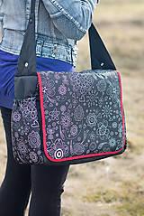 Veľké tašky - Taška s kontrastným lemom - 7969394_