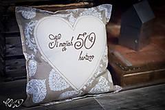 """Úžitkový textil - Vankúšik """"Si mojich 50 hertzov"""" - 7971803_"""