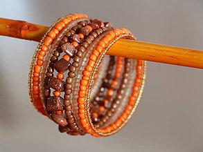 Náramky - Náramok s karneolom oranžový - 7971738_