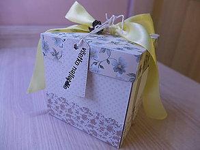 Drobnosti - Exploding box - kvetinový - 7968761_