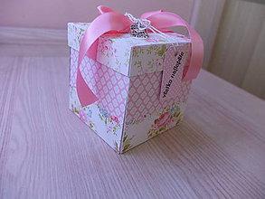 Drobnosti - Exploding box - ružový - 7968784_