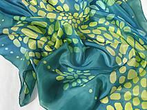 Šatky - Mozaika I..hodvábna šatka - 7968453_
