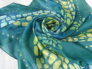 Šatky - Mozaika I..hodvábna šatka - 7968451_