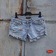 Nohavice - odrbané recy džínové kraťasy, světlemodré WIGOSI - 7972724_