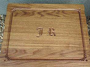 Pomôcky - Drevená dubová podložka (doska na krájanie) - 7971779_