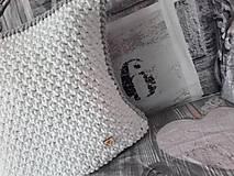 Úžitkový textil - Vankúš Nordic Day biely - 7970848_