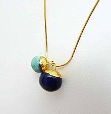 Náhrdelníky - Tana šperky - keramika/zlato - 7970881_