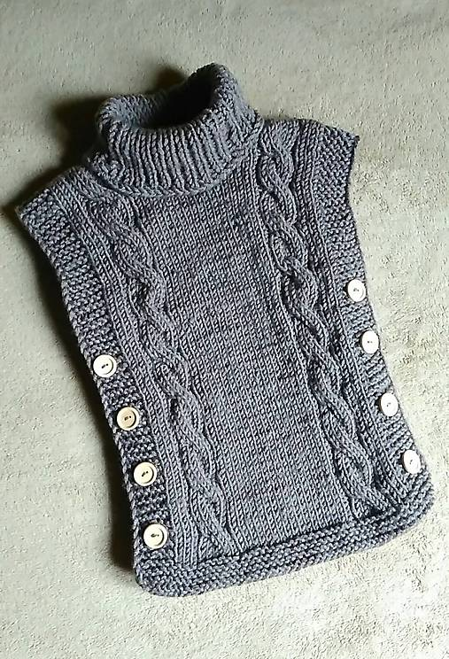 f5ab5eb169 Vesta bez rukávov   CrochetByYvette - SAShE.sk - Handmade Detské ...