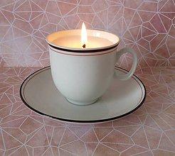 Svietidlá a sviečky - teacup candle / sviečka v šálke - 7972344_