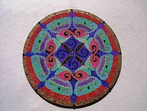 Dekorácie - Mandala sypaná pieskom Zosma - 7972022_
