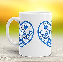 Nádoby - Modro-biela šálka - 7970238_