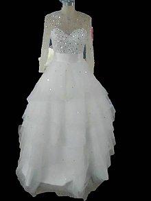 Šaty - Jemné moderné volánikové svadobné šaty. - 7968319_