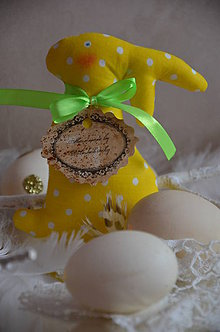 Dekorácie - Zajac žltý - 7970641_