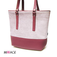 Veľké tašky - Emma shopper bag II n.27 shell pink & marsala - 7969296_