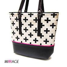Veľké tašky - Emma shopper bag II n.28 pink & cross - 7969298_