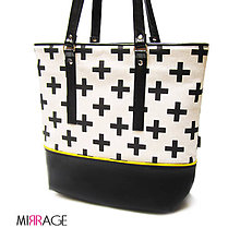 Veľké tašky - Emma shopper bag II n.29 yellow & cross - 7969318_