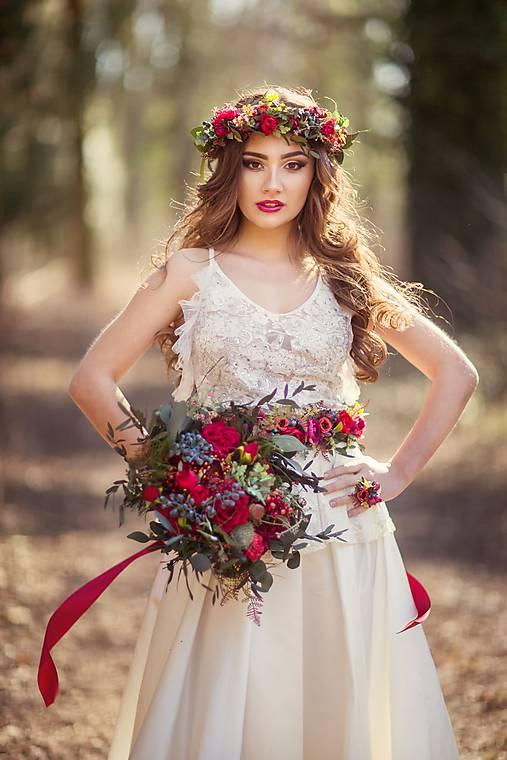 Boho svadobná kytica