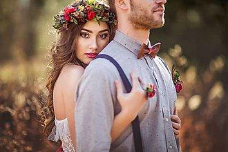 Ozdoby do vlasov - Boho svadobný venček \