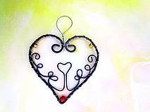 Dekorácie - Srdce s ornamentom - 7970746_
