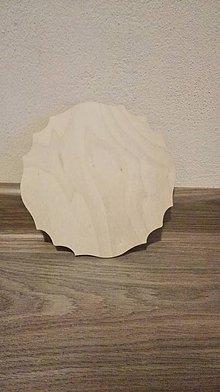 Polotovary - Drevená doštička 16x16 cm - 7971749_