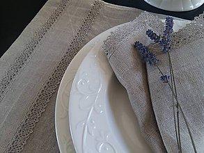Úžitkový textil - Ľanové prestieranie Raw Linen - 7971772_