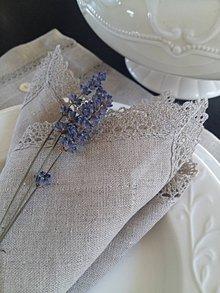 Úžitkový textil - Ľanový obrúsok Raw Linen - 7971808_