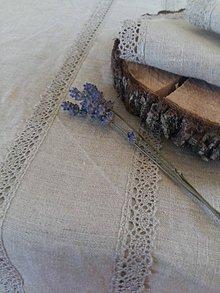 Úžitkový textil - Ľanový obrus Raw Linen - 7971857_