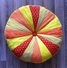 Úžitkový textil - podsedák PUF oranžový - 7972458_