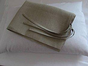 Úžitkový textil - Ľanová obliečka 35x60cm - 7975622_