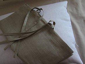 Úžitkový textil - Ľanová obliečka 35x80cm - 7975630_