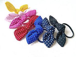 Ozdoby do vlasov - Mini scrunchies (mini dots) - 7976453_