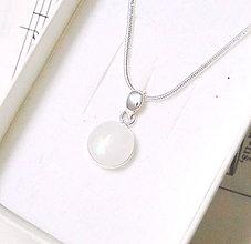Náhrdelníky - Silver Moonstone Pendant / Prívesok s mesačným kameňom- adulárom Ag 925 - 7975791_
