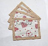 Úžitkový textil - Prestieranie - Režné srdce - 7973682_