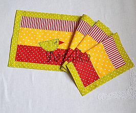 Úžitkový textil - Veľkonočné prestieranie - Z farebného vajíčka n.3 (4) - 7973636_