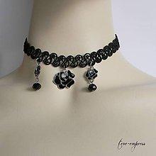Náhrdelníky - Gotický obojok s ružami - 7974142_