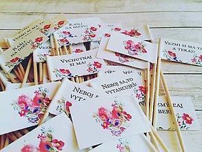 Darčeky pre svadobčanov - Vtipné tematicke vlajocky do zákuskov - 7975677_