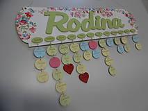 Dekorácie - HM - Kalendár RODINA (bez gravírovaných mesiacov, mien a dátumov) - 7976339_