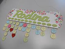 Dekorácie - HM - Kalendár RODINA (bez gravírovaných mesiacov, mien a dátumov) - 7976340_