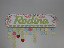 Dekorácie - HM - Kalendár RODINA (bez gravírovaných mesiacov, mien a dátumov) - 7976341_