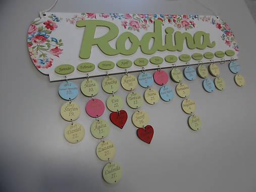 HM - Kalendár RODINA (bez gravírovaných mesiacov, mien a dátumov)