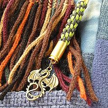 Kľúčenky - karabína s nábojnicami a príveskom Daenerys - 7975432_