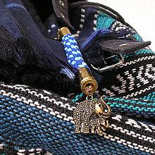 Kľúčenky - karabínka s nábojnicami a príveskom Slon - 7975787_
