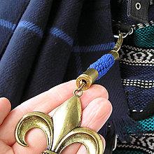 Kľúčenky - karabína s nábojnicami a príveskom Skautská ľalia - 7975843_