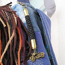 Kľúčenky - karabínka s nábojnicami a príveskom Motocykel - 7975875_