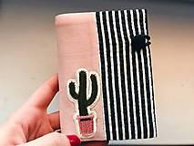 Papiernictvo - Obal na pas kaktus - 7975009_
