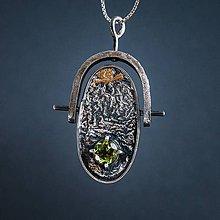 Náhrdelníky - prívesok s olivínom (VÝPREDAJ PROTOTYPOV) - 7975517_